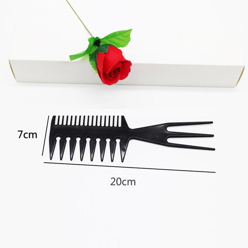 Купить с кэшбэком Dropship Black Color 3 Way Large Wide Tooth Comb Salon Afro Hair Pick Brush Comb Hairdressing Hair Styling Comb Braid Tool