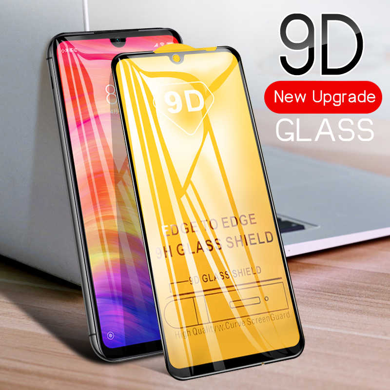9D Full Curved Edge Cover Tempered Glass For Xiaomi Redmi Note 7 6 5 Pro Mi9 Mi8 SE Mi 8 A2 Lite 6X Screen Protector HD 9H Glass