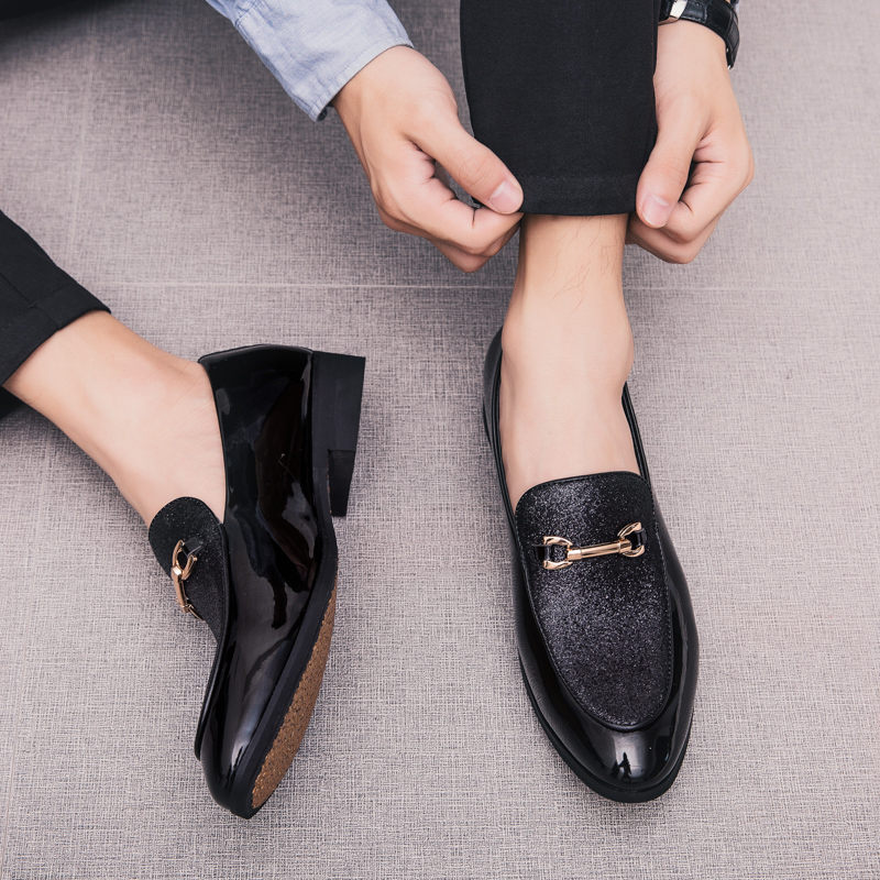 Fashion Pointed Toe business Dress Shoes Men Loafers Leather Oxford Shoes for Men Formal Mariage slip on Wedding party Shoes k3 4