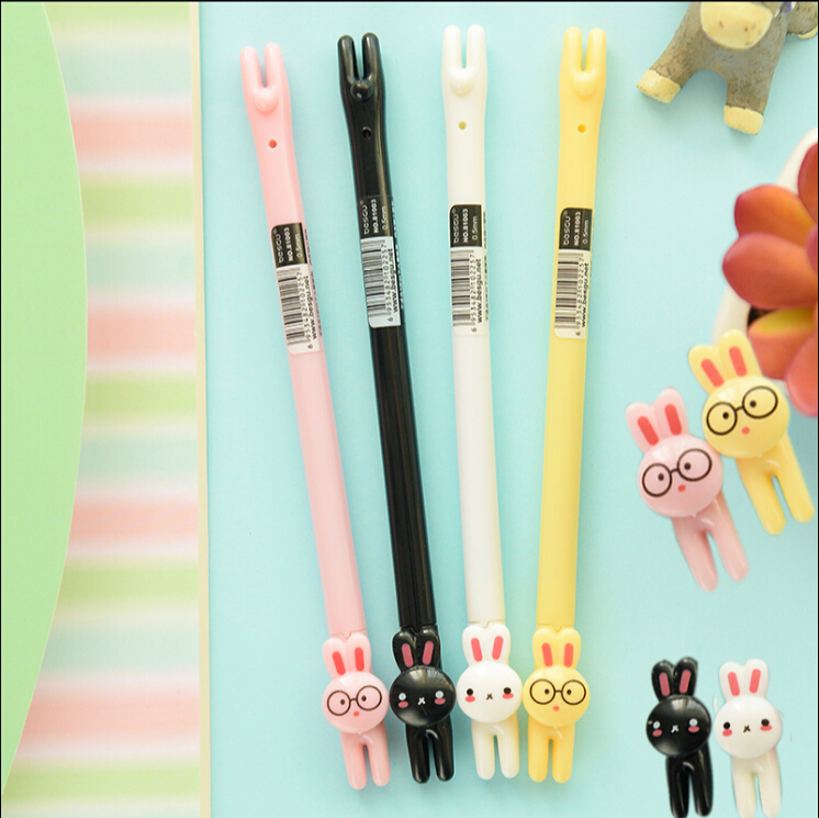 36 pcs/Lot Black ink 0.5mm Rabbit gel pen for writing Kawaiis