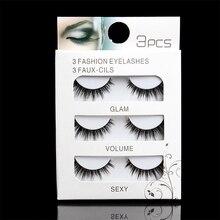 лучшая цена Mink Cruelty free Lashes Handmade Reusable Natural Eyelashes Popular False Lashes Makeup