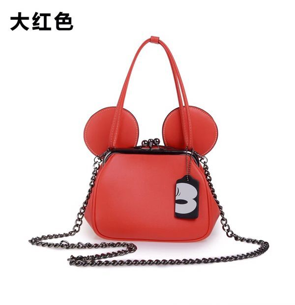 2017 fashion new Mickey handbags High quality PU leather Women bag Mickey big ear clip buckle
