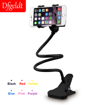 Universal Phone Holder for iPhone Long Arm Flexible Lazy Stand for Huawei Samsung Clip Bed Desk Tablet Gooseneck Bracket Stents