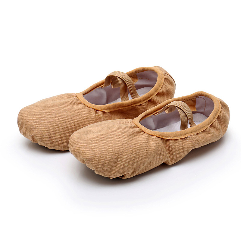 USHINE New Style Full Rubber Band Shoelace Body-shaping Training Yoga Slippers Shoes Ballet Dance Shoes Children Girls Woman