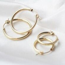 Gold Filled Hoop Earrings Modern Jewelry Minimalism Boho Brincos Gift Vintage Pendientes Oorbellen Earrings For Women