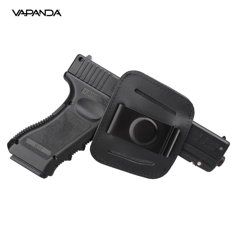 Vapanda Hunting Holster Black Gun Holster Clip Bag for Glock 17 18 19 1911 Beretta 92 Pistol Tactical IWB OWB Leather Holsters emerson safariland tactical dropleg holster for beretta m92 airsoft with flashlight holster bd2293