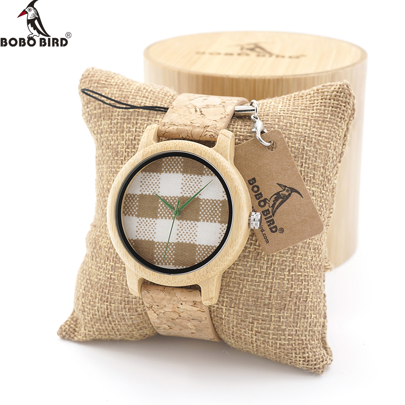 BOBO BIRD Mens Bamboo Wooden watches sport  Quartz Watch With Fabric Dial Top Brand Luxury Watch bobo bird mens black ebony wooden watch deer head dial mens top brand luxury quartz wrist watch for men in gift box