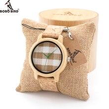 BOBO PÁJARO de Bambú Para Hombre relojes del Cuarzo del deporte del Reloj De Madera Con Tela Dial Top Marca de Relojes de Lujo