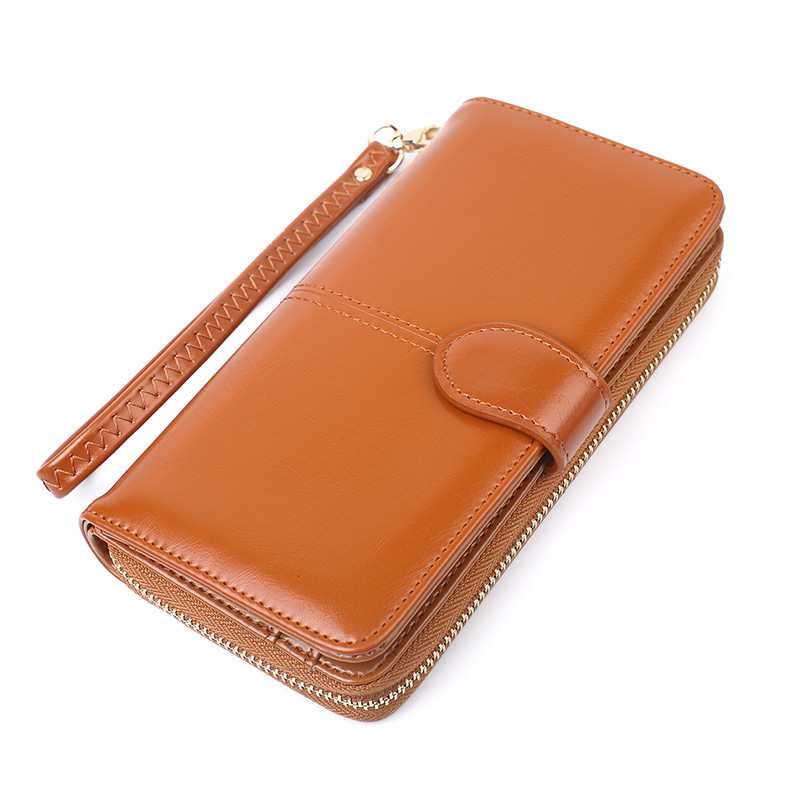 Berömd design Vintage retro plånbok avslappnad ren färg blixtlås - Plånböcker - Foto 1