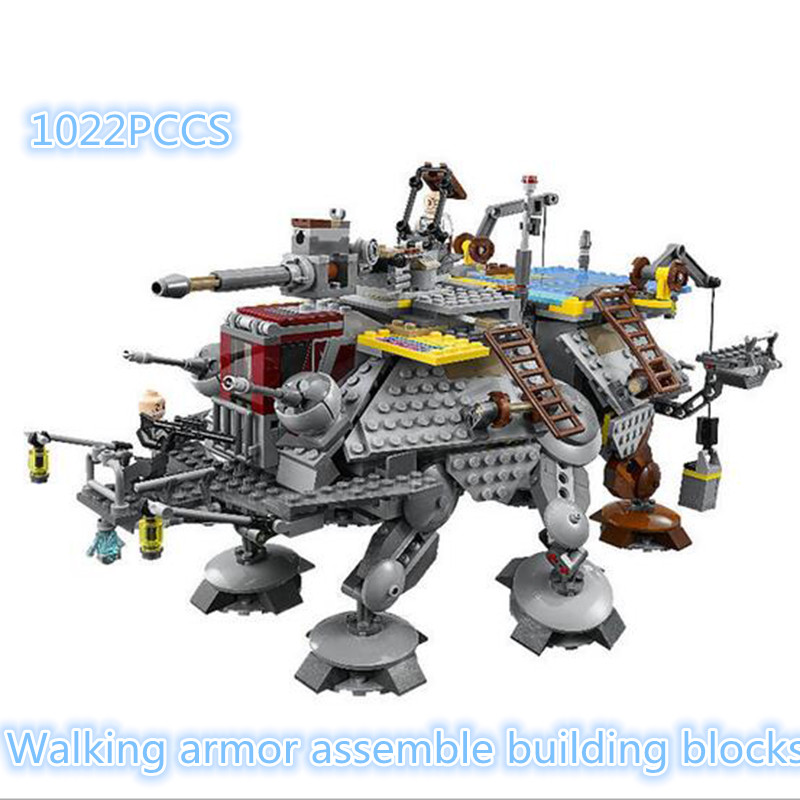 05032 Rexs AT-TE Model building kits compatible with city 3D blocks Educational toys hobbies for children m367