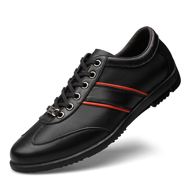 Appartements Respirant Formelles Automne grey 45 Black Taille Doux À En Occasionnels Véritable Chaussures Hommes Cuir Laisumk Marque Lacets Plus Owz711