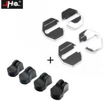 JHO дверной замок Защитная крышка+ ограничитель комплект для Ford Explorer 2011- 12 13 14 аксессуары для стайлинга автомобилей