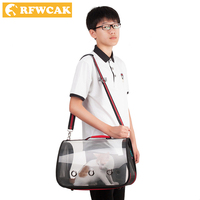 RFWCAK Classico Semplice Trasparente Gatto Carry Bag Kitty Singola Spalla Zaino Da Viaggio Pacchetto Cane Zaino Portatile Pet Articoli