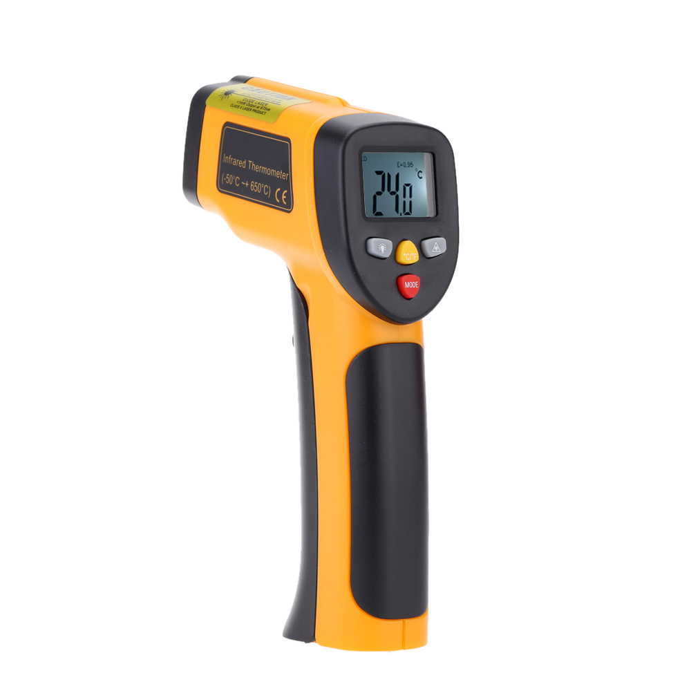 High Precision Pyrometer Non-contact IR Digital Infrared Thermometer Temperature Tester Range -55~650C(-58~1202F) high quality infrared thermometer professional non contact digital contain battery african swiss voile lace high quality