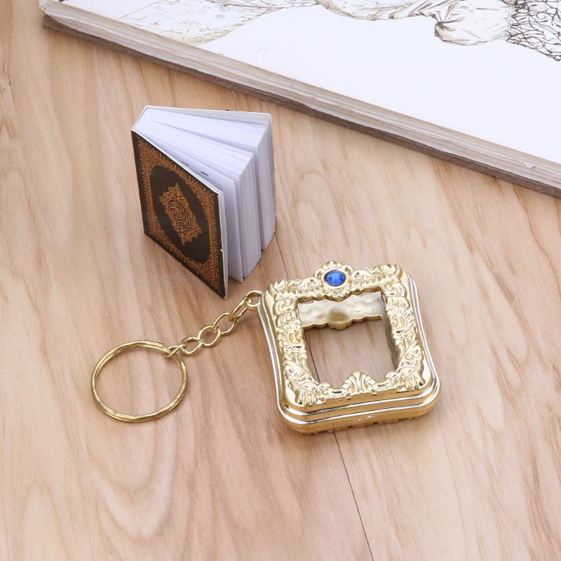 Image 3 - MenMini Ark Quran Book Real Paper Can Read Arabic The Koran Keychain Muslim Jewelry Gift SouvenirsKey Chains