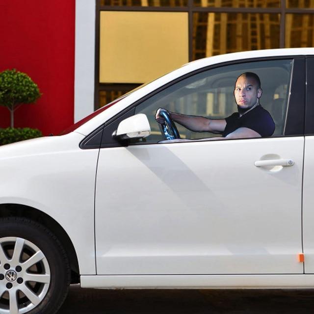 Aliauto car styling fast furious paul walker vin diesel car window sticker glass accessories