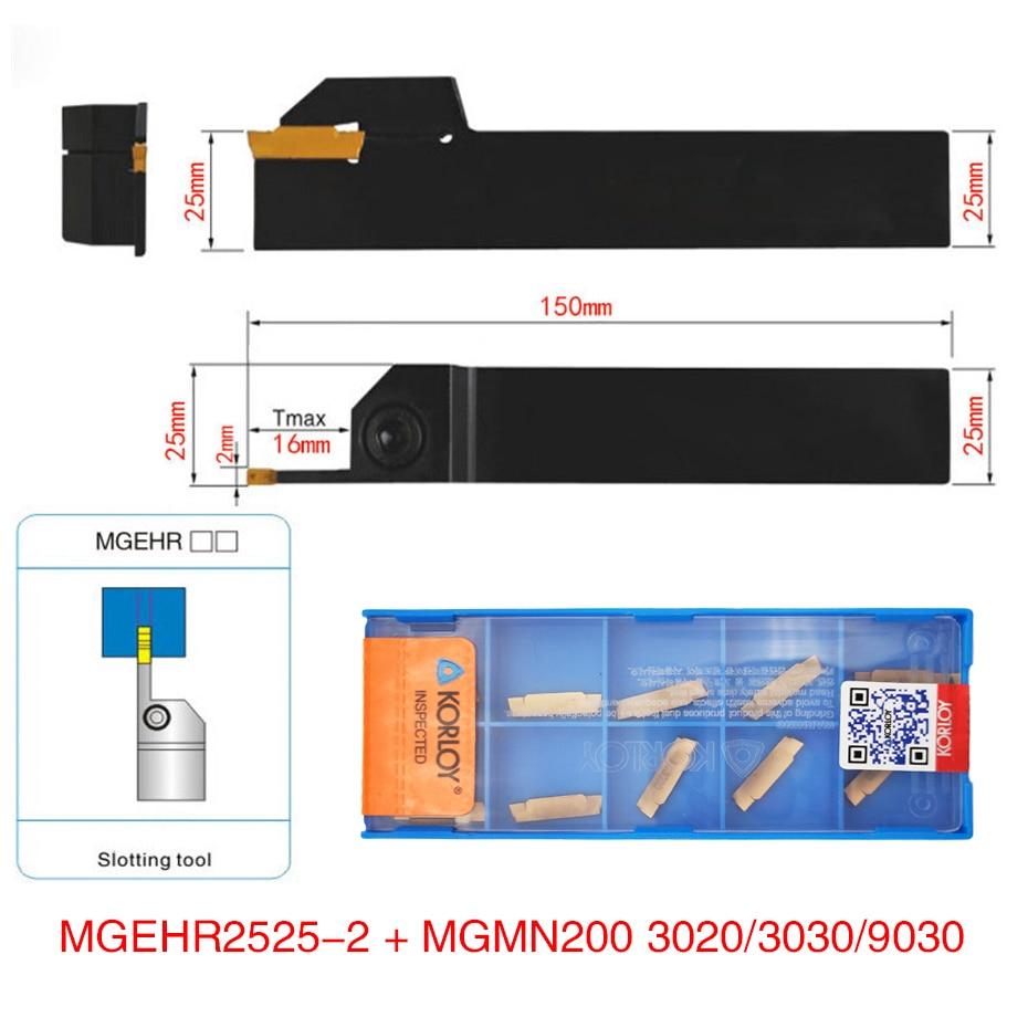 1pc MGEHR2525-2 MGEHL2525-2 tool holder + 10pcs MGMN200 G NC3020/NC3030/PC9030 inserts grooving turning tool holder set1pc MGEHR2525-2 MGEHL2525-2 tool holder + 10pcs MGMN200 G NC3020/NC3030/PC9030 inserts grooving turning tool holder set