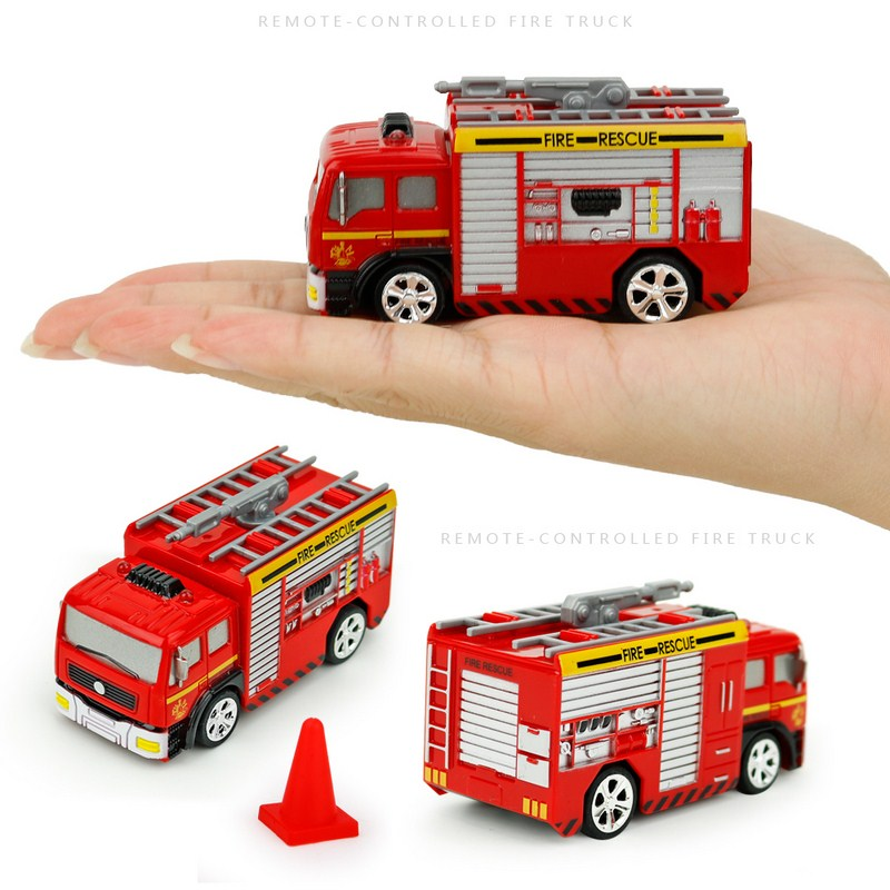 SHENQIWEI 8027 1:58 Mini Fire Truck Creative Design RC Fire Truck Vehicle Remote Control Car Vehicle Toy for kids Christmas Gift