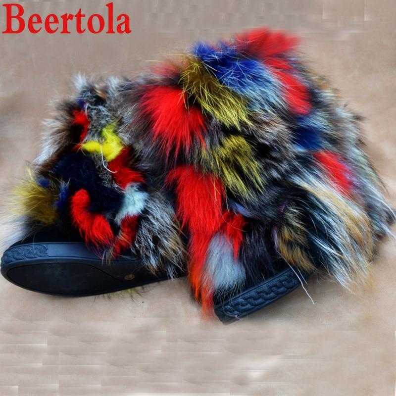 Invierno Aumento Picture Tobillo Beertola La Nieve Mezcló Top Botas Lujo De Mujeres Colores Redonda Las Caliente Pie Zapatos Piel Del Altura As Dedo FadqaBHxw