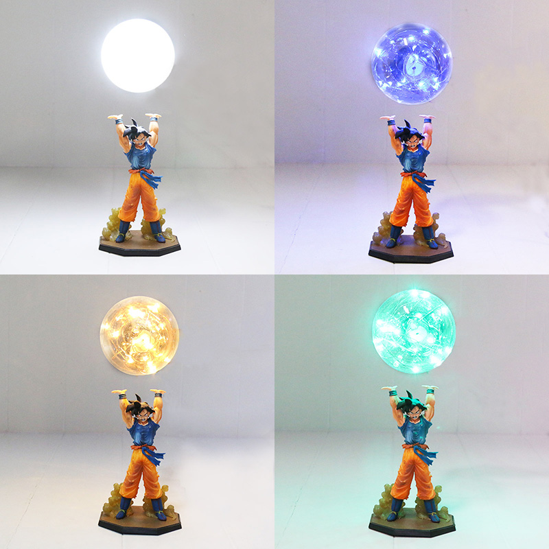 Dragon Ball Z Figure Super Saiyan Son Goku Genki gogeta damaSpirit Bomb PVC Figure Dragonball Z DIY Display Bulb Model Toy