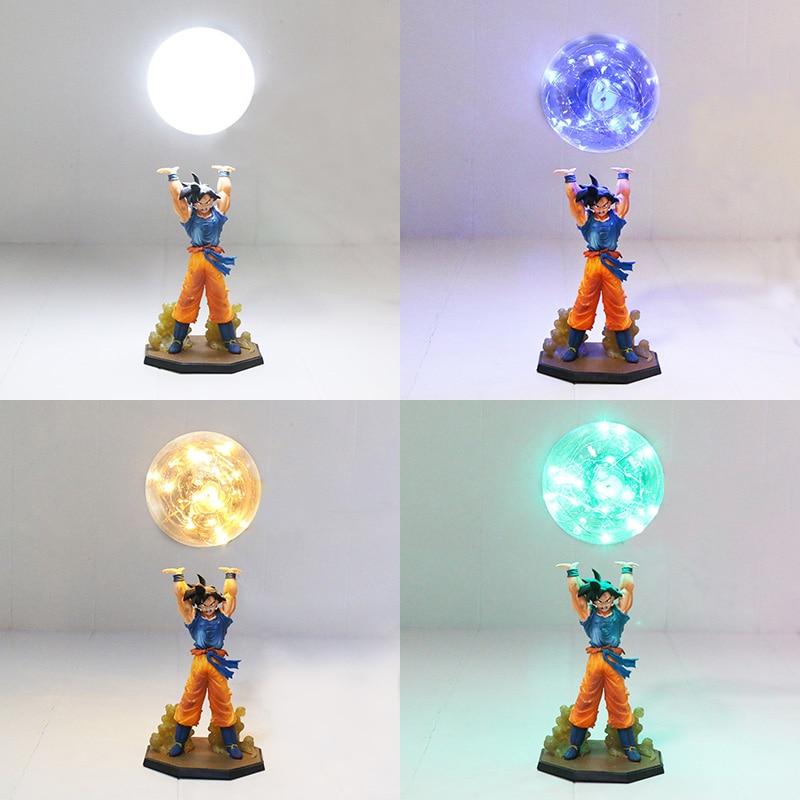 Dragon Ball Z Figure Super Saiyan Son Goku Genki gogeta damaSpirit bombe PVC Figure Dragon Ball Z bricolage affichage ampoule LED avec mémoire jouet