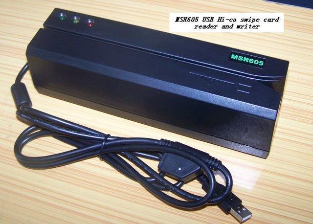Бесплатная доставка! MSR605 Магнитной Полосой Писатель Чтения Карт с интерфейсом USB