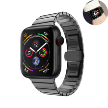 stainless steel watch strap for apple watch band 4 42mm 38mm correa metal Butterfly buckle watchband for iwatch 44mm 40mm 3/2/1 hoco 42mm watchband steel stainless metal strap classic buckle adapter watch bands for apple watch