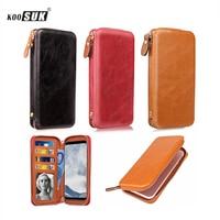 KOOSUK Telefon Brieftasche Tasche Clip Abdeckung Für Samsung galaxy J1 J2 J3 J7 J5 Pro 2017 S8 S7 S6 Rand S5 S4 S3 Tasche fall