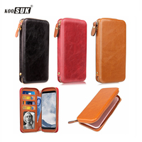 KOOSUK Phone Wallet Bag Leather Pouch Clip Cover For Samsung Galaxy J1 J2 J3 J7 J5