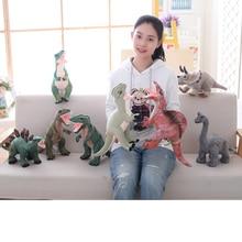 Juguetes de peluche de dinosaurio Simulación Rex Tyrannosaurus rellenos Juguetes para niños Regalo de cumpleaños encantador para niños