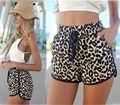 2015 Calções Mulheres Verão Estilo Casual Hot Shorts Leopard Impresso Curto Mulheres Skort Shorts Feminino A16