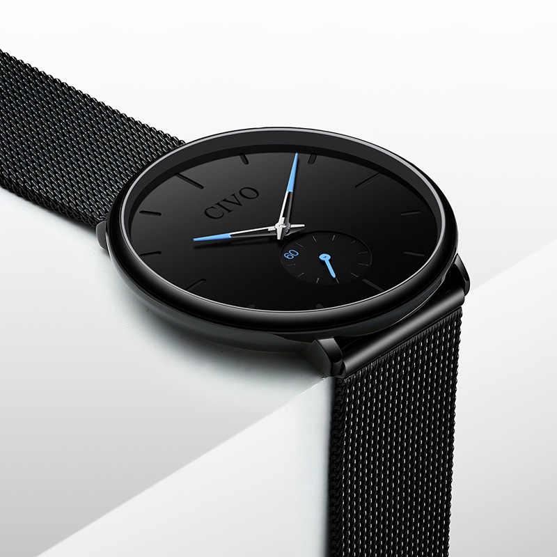 31cd515a6 ... CIVO Fashion Watch Men Waterproof Slim Mesh Strap Minimalist Wrist  Watches For Men Quartz Sports Watch ...