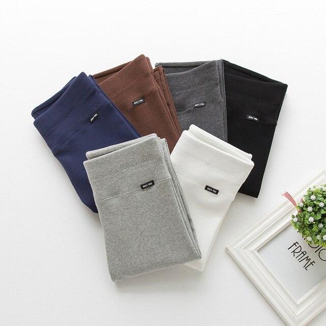 Autumn Winter Thin Section Plus Cotton Leggings Female Korean Version Wearing High Waist Elastic Skinny Nine Points Pants