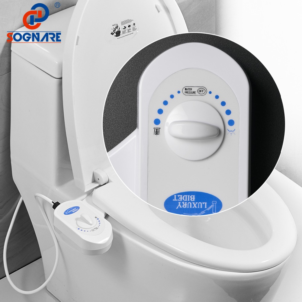 SOGNARE Toilet Seat Bidet WC Toilet Seats Portable Bidet Plastic Simple Washlet Shower for ASS Replace Toilet Seat Massage toilet seat