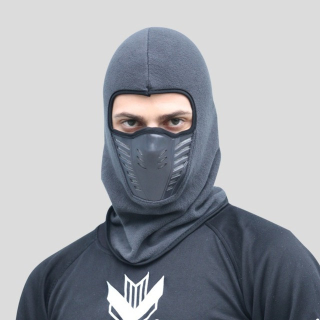Balaclava Winter Full Face Mask Neck Scarf Windproof Cycling Fleece Full Face Mask Neck Scarf Dustproof Unisex Outdoor Sports