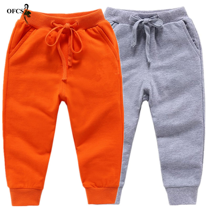 Image 5 - Retail New Warm Velvet Pants For 2 10 Yeas Solid Boys Girls Casual Sport Pants Jogging Enfant Garcon Kids Children Trousers-in Pants from Mother & Kids