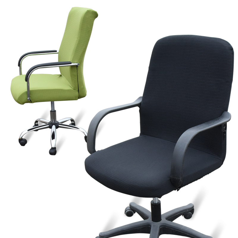 large size office computer chair cover side zipper design arm chair cover recouvre chaise stretch rotating