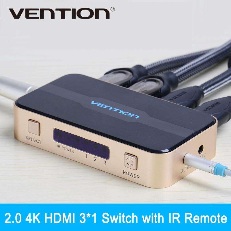 Convention 3 en 1 sur Commutateur HDMI Switcher HDMI Splitter avec Audio pour XBOX 360 PS3 PS4 Smart HD 1080 P 3 Entrée à 1 sortie