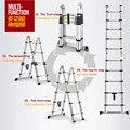 Промышленная телескопическая лестница 2 5 м + 2 5 м  алюминиевая телескопическая лестница с соединением