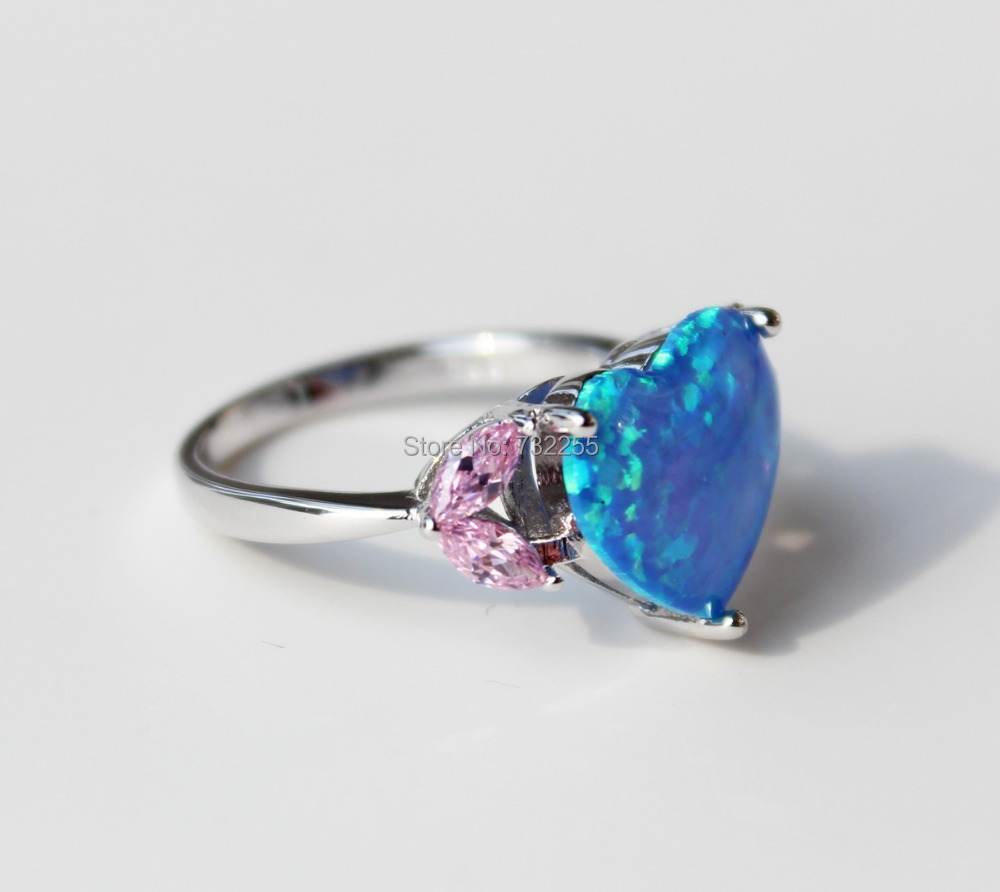Aliexpress : Buy Nice Heart Shape White Fire Opal Engagement Rings For  Lady Usa Size 7 8 9 From Reliable Opal Amethyst Ring Suppliers On Sparkles  Shop