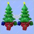 2 metros De Altura Inflable Árbol de Navidad, Inflables de navidad, rotación Del Árbol de Santa con Iluminación para La Venta
