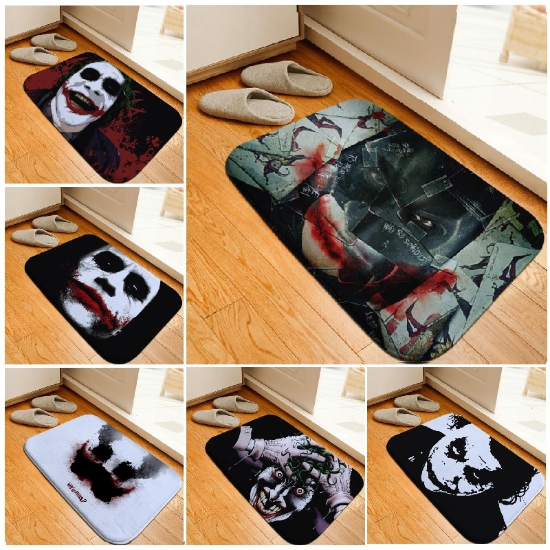 bath mat batman joker printed rug toilet carpet flannel