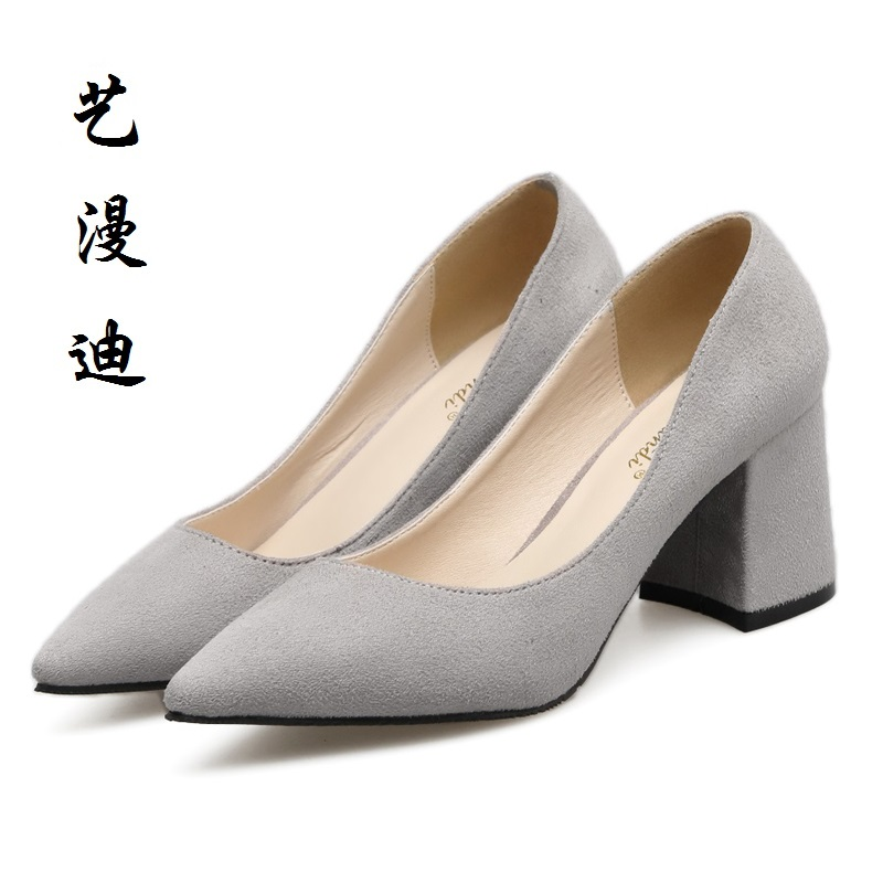 2017 Small Size 31-43 Gray Sexy Pointed Toe High Heels Women Pumps Ladies Office Shoes Woman Chaussure Femme 32 33 34