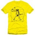 Da Vinci Guitarra Música Rock Camiseta de Los Hombres Camisetas Divertidas Pesado algodón Cuello Redondo Tops Tee Shirt Homme EE. UU. Tamaño S-XXXL