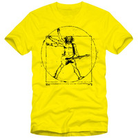 Da Vinci Rock T Shirt Men S Music Guitar Funny T Shirts Heavy Cotton Round Neck