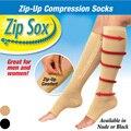 Hot Women Zip Sox Zip Up Zipper meias de compressão perna de apoio meias