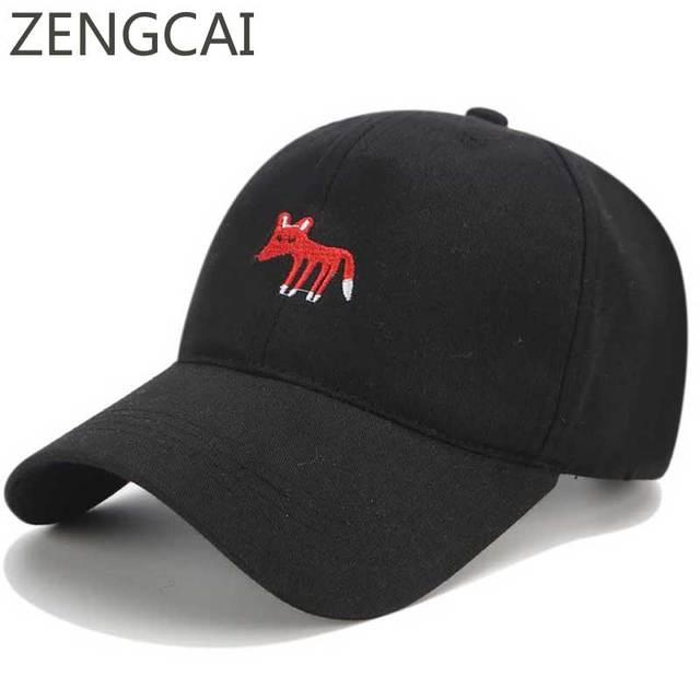 Snapback Trucker Caps Fox Dad Hats For Men Baseball Cap Women Animal  Cartoon Embroidery Adjustable Casual Hip Hop Summer Sun Hat a93b3b7e4c8