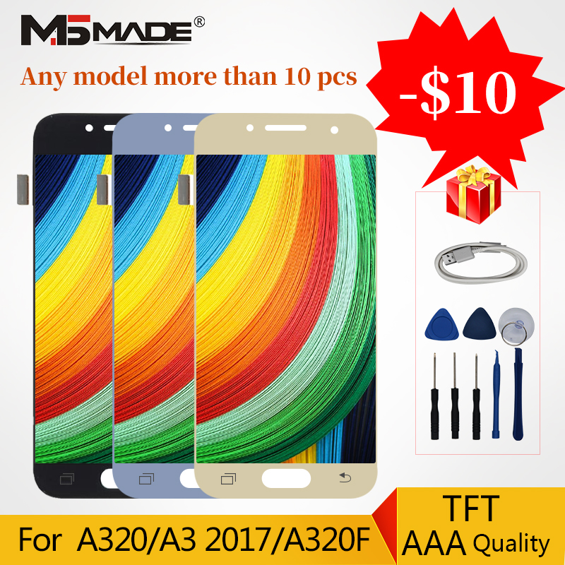 <font><b>A320</b></font> <font><b>LCD</b></font> For Samsung Galaxy A3 2017 Display <font><b>A320</b></font> A320M A320F <font><b>LCD</b></font> Touch Display Screen Digitizer Assembly Parts Free Shipping image