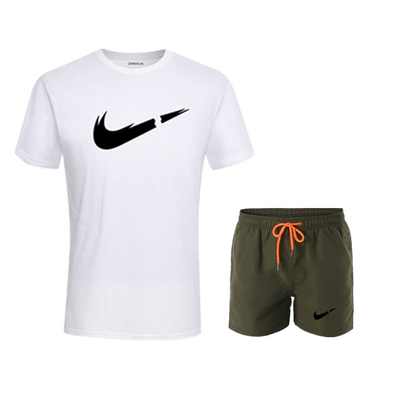 HTB1vGxqUmzqK1RjSZFHq6z3CpXav 2019 New Men Fashion Two Pieces Sets T Shirts+Shorts Suit Men Summer Tops Tees Fashion Tshirt High Quality men clothing