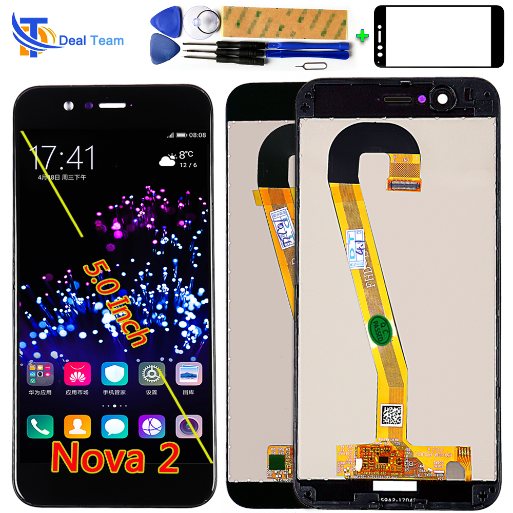 Mobile Phone Parts Ambitious Deal Team 5.0 Inch Ips Lcd Display For Huawei Nova 2 Touch Screen Digitizer Assembly Pic-al00 Frame With Free Tempered Glass Cellphones & Telecommunications